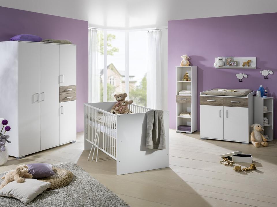 Babybett Babyzimmer Komplett Kinderwagen Wickelkommode Kinderzimmer